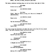 Script for Freud by Jean-Paul Sartre, with corrections by John Huston (2).