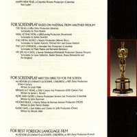 Programme for the 60th Annual Academy Awards