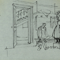 Drawing by Stephen Grimes, Set Director of