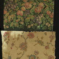 Samples of period wallpaper, collected by Stephen Grimes, set director of