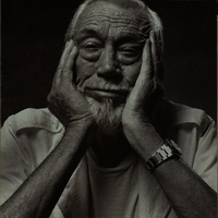 Advertisement from Apple, in the New Yorker, with a photograph of John Huston.