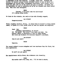 Script for Freud by Jean-Paul Sartre, with corrections by John Huston (3).