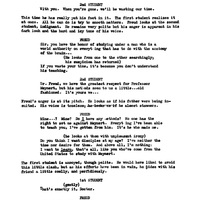 Script for Freud by Jean-Paul Sartre, with corrections by John Huston (4).