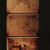 Drawings by Stephen Grimes, Set Director of